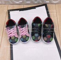 Kinder Schuhe Mode Lederdruck Babys Erste Wanderer Mädchen Jungen Sneakers 2 Farbe mit Kasten