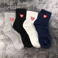 Grey Black Navy White Sock Women Men Unisex Cotton Basketball Socks