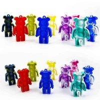 Галстук-краситель Push Poppers Силиконовая головоломка медведь красочные попки его тикток игрушки Go Bang Pop Fidge Toy Sensosy Squishies Tiktok Autism специальные нужды цепочки ключей H4142XW