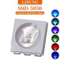 가벼운 구슬 1000pcs / 가방 SMD RGB LED 다채로운 여러 가지 빛깔의 플리커 방출 다이오드 램프 느린 빠른 깜박이 와이어 IC 칩