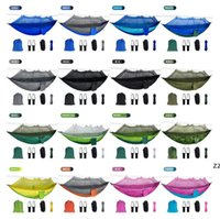 Mosquito Net Hammock 16 Colors 260*140cm Outdoor Parachute Cloth Field Camping Tent Garden Camping Swing Hanging Bed HWD10064