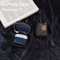 Fashion textile Airpod Cases Headset Accessories for Airpods 1 2 pro 3 Cover bag with Luxury brand Anti Lost Hook Clasp Keychain Case 090220