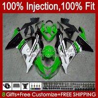 Kit d'injection pour Kawasaki Ninja ZX 6R 6 R 636 600 CC ZX-636 2013 2014 2015 2016 2017 2018 Body 12NO.80 ZX-6R ZX600 600CC ZX636 ZX6R 13 14 15 16 17 18 OEM Factory Green