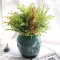 النباتات الاصطناعية تشعر سرخس ورقة وهمية الريش فورستيل محاكاة أوراق العشب داخلي زهرة الزخرفية الزخرفية