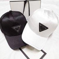 Designer pesado indústria triângulo marca chapéu casal preto e branco golf chapéu ao ar livre