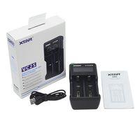 Otantik Xtra VC2S Pil Şarj LCD Ekran Akıllı Mikro USB Girişi 2 18650 26650 Piller için Çift Yuvası Güç Orijinal