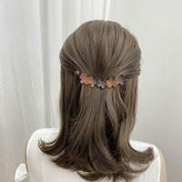 Hair Accessories Floral Clip Women MaAcrylic Barrette Ponytail Holder Banana Clamp Claw Black Brown Grip Styling