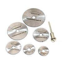 6 pcs hss hss circular viu lâminas de roda disco cortadas ferramentas rotativas de broca cortes de precisão finos para pequenos trabalhos cortados