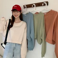 Women's T-Shirt T-shirts Fashion Tshirts Cotton Loose Casual Short Round Neck Long-Sleeved T Shirt Damskie Drop WBX378