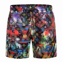 2021 Trajes de baño para hombres Casual Nadando pantalones cortos de placa de flores Pantalones de verano Moda de verano Muchachos de alta calidad transpirable suelto traje de baño al por mayor