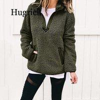 Women Winter Sherpa Sweater Teddy Fleece Zipper Turtleneck Pullover Tops Female Warm Coat Sweaters Women's
