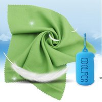 Colorful ice cold towel with silicone case enduring running quickly dry cooling towels jogging gym cool outdoor sports toweling DHD7641