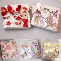 2021 new headdress children's cartoon hairpin hairring hairpin hair rope rubber band Jewelry Gift Box Set Gift