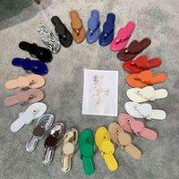 2021 Frauen Sandalen aushöhlen Flachhausschuhe Sandale Nietenmädchen Schuhe Ankunftsgelee-Gelee-Plattform-Folien Damen-Flip-Flops mit Box 35-43