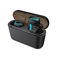 HBQ Q32 BT Çift Kulaklık İkizler Kulaklıklar Stereo Müzik Kulaklık Gürültü Iptal TWS Bluetooth Kablosuz Kulaklık Evrensel Marka Telefonları için