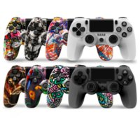 Controlador de camuflaje para PS4 Cuatro generaciones 4.0 Vibración Joystick Gamepad Controladores de juego inalámbricos 8 colores opcionales