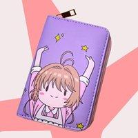 Cardcaptor Sakura Women Card Captor kurze Brieftasche Reißverschluss Weibliche Münzbörse Änderung Halter Anime Cartera Mujer