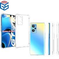For Oppo Rearme 3 C15 X50 Reno Full Clear Phone Case Anti Shock Edge Soft TPU Back Cover Realme GT Neo 2