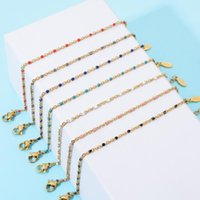 Charm Bracelets Boho Stainless Steel For Wom Cute Amel Bracelet Jewelry Gold Color Link Chain Femme Mujer Pulsera