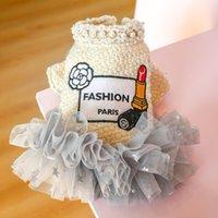 Dog Apparel Autumn Winter Pet Clothes Warm Princess Cat Woolen Skirt Dresses For Small Dogs Wedding Dress Tutu Girl