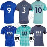 21/22 Leicester Soccer Jerseys 2021 Ciudad Vardy Maddison Tielemans Ndidi Camiseta de Fútbol Hombres Kits Kits + Calcetines Conjuntos completos Camisa de fútbol Maillot Thai