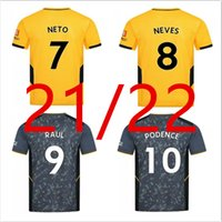 21 22 Wolves Soccer Jerseys Troisième Aït Nouri Semedo Raul Neto Neto Neto Nuves 2021 2022 Boly J.otto Podence Faio Silva Football Saiss shirts J.Moutinho Adama Hommes Kits Tops
