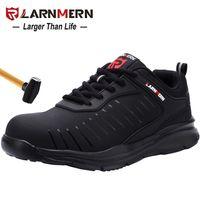 Ларнмерная мужская стальная носящая трудовая обувь для мужчин Легкая дышащая противоскользящая нескользящая противоскользящая антистатическая защитная 210826