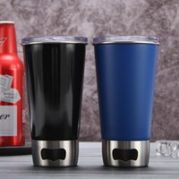 Mugs Multifunction Beer Cups Stainless Steel Mug For Tea Coffee Water Bottle Portable Leakproof With Lids Corkscrew