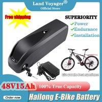 Land Voyager 48 V 15Ah Bicicletta elettrica Battery Pack DownTube Hailong Plus Batterie al litio Ebike per Motor Bafang TS 2A Caricabatterie