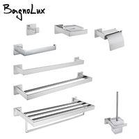 Conjunto de acessórios de banho Bagnolux cromo de aço inoxidável de aço bonito gancho de parede higiênico suporte toalha de toalha