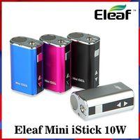 Atacado Mini Mini Istick Kit 1050mAh Bateria Bateria 10W Máx máximo Variável Variável Tensão Mod 4 Cores com conector USB Cabo Ego