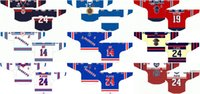Özelleştirilmiş 2001 02-Pres OHL Mens Bayan Çocuklar Beyaz Siyah Kırmızı Özel Etkinlik Stiched Kitchener Rangers Logos Ontario Hokey Ligi Formalar
