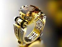 Nuovo anello aggressivo dell anello aggressivo degli uomini di diamante dell'elettroplamazione di colore creativo di separazione dei colori dei monili di coinvolgimento per gli uomini e le donne