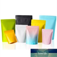 50pcs Lot Color Stand up Aluminum Foil Zip Lock Packaging Bag Heat Sealing Snack Spice Dressing Women Panties Dolls Pack Pouches