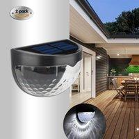 Güneş Lambaları Açık Havada Duvar Işık 6 LED Süper Parlak Çit Lambası Yağmur Geçirmez Yarımartma Su Bırak Merdiven Gece 2 ADET
