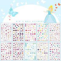 2021 Wholesale Cartoon Cute Princess Summer Nail Art Stickers Brand Name Decals