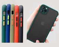 핫 매트 클리어 전화 케이스 투명 피부 피부 덮개 덮개 Fine 홀 카메라 보호 장치 아이폰 12 프로 최대 6.7 미니 11 11pro x xs xr 7 7p 8 8plus