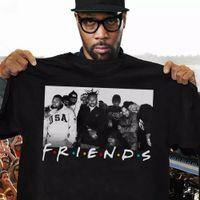 Streetwear Camisetas Wu-Tang Clã Friends TV Show T-shirt Vintage Presente Para Homens Mulheres Hip Hop T Camisas