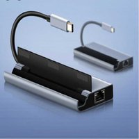 USB Type-C 7 In 1 Hub To 4K HDMI-Compatible Rj45 TF SD Card Reader PD Fast Charge For MacBook Pro Air Docking Station