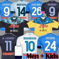 2019 2020 Napoli Camisas de Futebol LOZANO HAMSIK INSIGNE Camisa de Futebol MAGLIA MERTENS VERDI MILIK Napoli 19 20 Maillots de foot