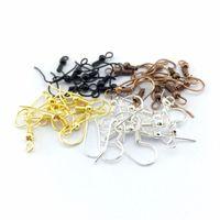 Vente en gros 500pcs / lot bijoux DIY Faire des résultats Constatations Boucle d'oreille crochet Bobine d'oreille Ballon de bille 18mm 15 W2