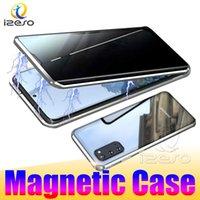 Gizlilik Manyetik Kılıflar Samsung Not 20 Ultra S20 Artı Not10 S10 A71 A51 Çift Taraflı Temperli Cam Anti-PEEP Darbeye Dayanıklı Telefon Kılıfı Izeso