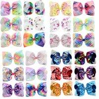 100+ Desings Kids Girls Hair Bows Jojo Siwa 8 Inch Unicorn Floral Mermaid Hairbands Hairpins Children Barrettes Accessories