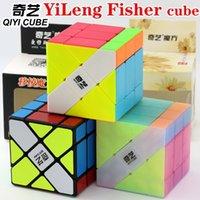 Magic Cube Puzzle Qiyi (XMD) Yileng Fisher Cubo Estranho Forma Sprofessional Velocidade Cubo Educacional Jogo Brinquedos Presente