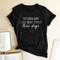 Вы знаете, что мне нравятся мужские футболки и женщины о полиции их собаки писем рубашка хлопка летняя женщина простая