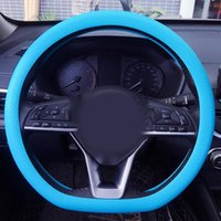 Cubiertas de volantes 32CM-40 CM Universal Elástico antideslizante Silicona Silicona Silicona Cubierta de Coche Skid Skid Skid Styling Auto