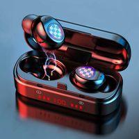 TWS V7 Wireless Earphones Touch Control Headset Waterproof Sport Gaming Wireless Bluetooth Headphones Earbuds