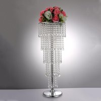 Party Decoration Acrylic Crystal Flower Rack Wedding Centerpiece   Tabletop Vase 5-Tier Road Leads For Home