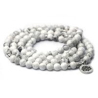 Ювелирные изделия ручной работы Оптом натуральный белый сосновый браслет йога ручная струна Lotus Magnesia руда буддийские украшения