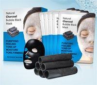 Bamboo carbone di carbone puro idratante maschera viso maschera profonda detergente per la pelle di controllo dell'olio ringiovanimento ringiovanimento termoretraibile poro schiuma nera maschere